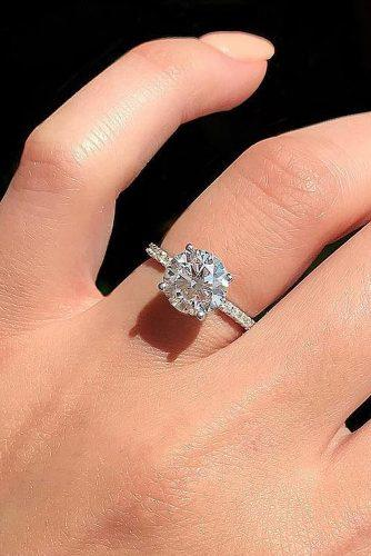 todays top engagement trends round cut diamond pave band solitaire