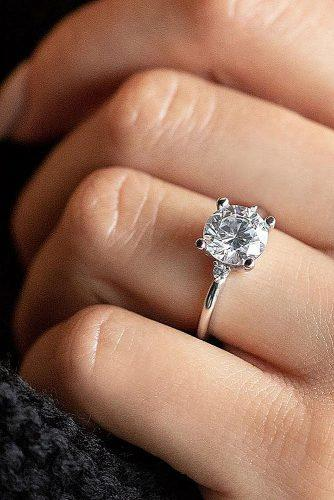 todays top engagement trends simple white gold solitaire diamond round cut