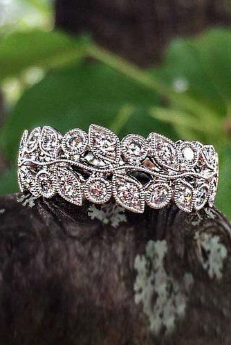 vintage engagement rings white gold diamonds bands