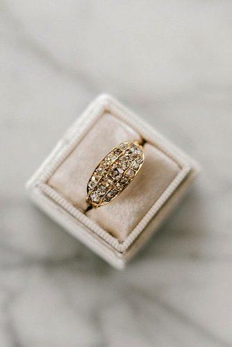 vintage engagement rings yellow gold antique art deco