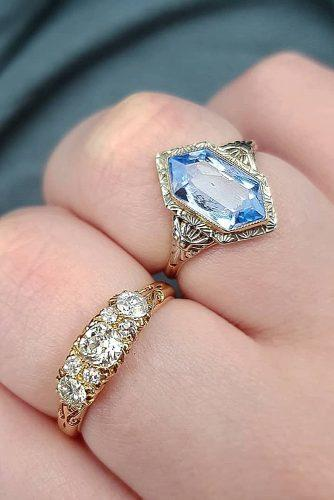 wedding rings gemstome antique vintage