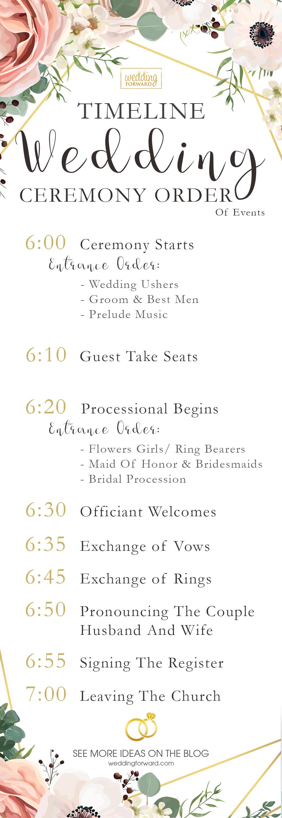 5 wedding ceremony order ideas  infographic