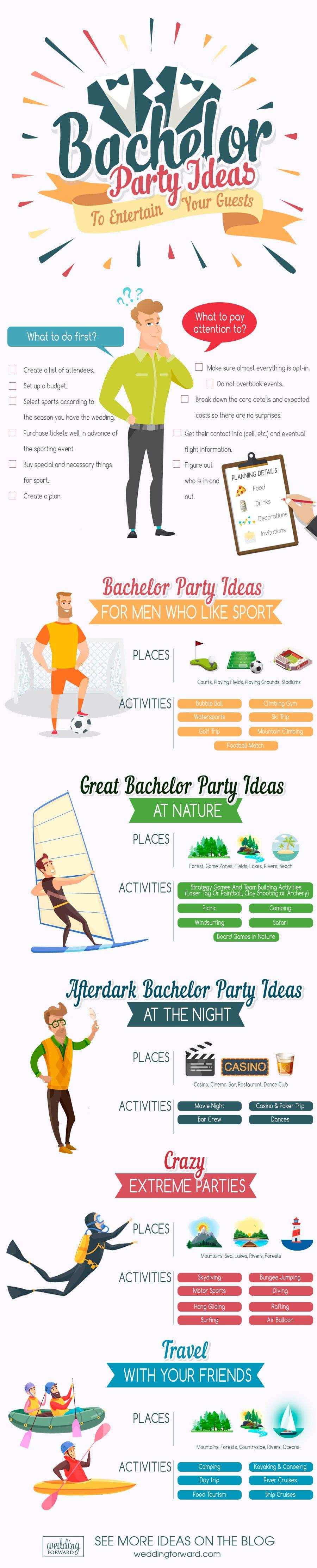 bachelor party ideas for men infographics