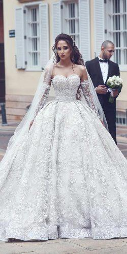 ball gown wedding dresses with detached sleeves sweetheart lace ahmad younes photography