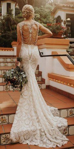 beach wedding dresses mermaid vintage lace with train galia lahav