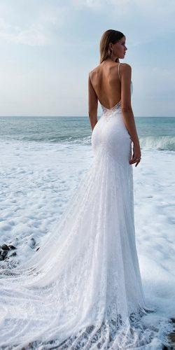 beach wedding dresses sheath backless with straps kuznetcova