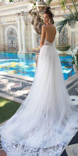 berta a line low back with over skirt spaghetti straps wedding dresses 2019