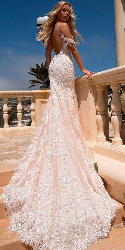 best wedding dresses mermaid with straps lace blush moonlight