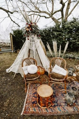 bohemian wedding theme chiling zone Irina Chris