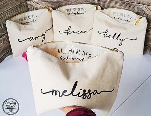 bridesmaid proposal ideas personalized make up bag