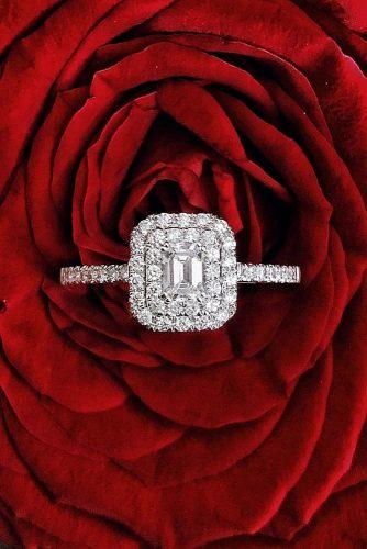 engagement ring trends 2019 diamond double halo pave band radiant cut