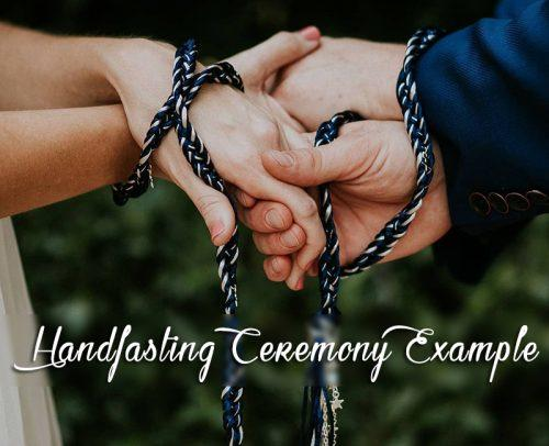 handfasting ceremony couple hands wedding ceremony