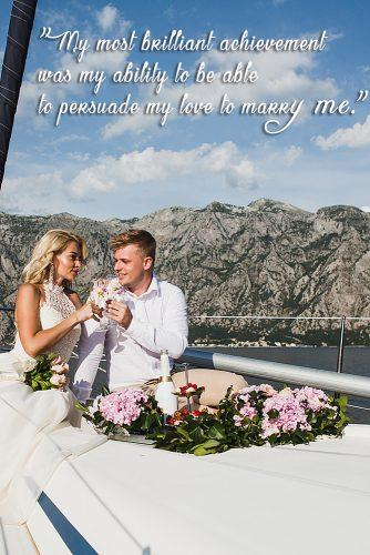 marriage quotes be famous people newlyweds at the yacht