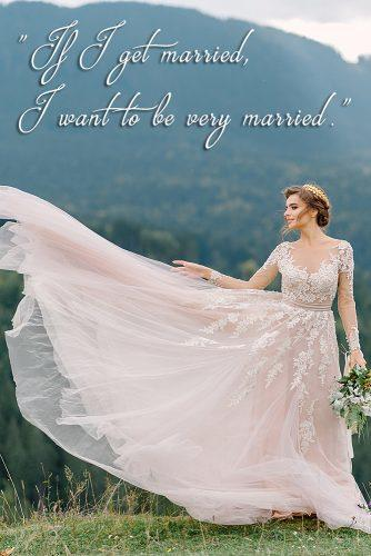 marriage quotes by famous people bride at the nature beautiful