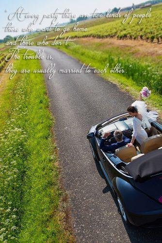 marriage quotes funny quotes bride and groom going in the car