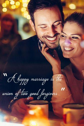marriage-quotes-love-marriage quotes woman and man smiling at the dinner