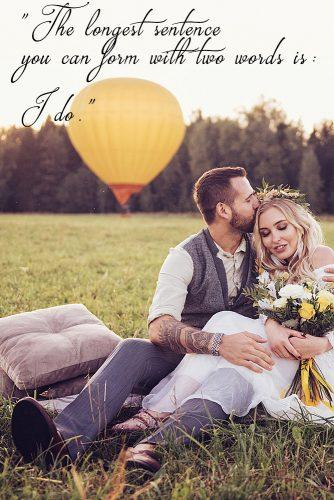 marriage quotes romantic-quotes bride and groom at the field together