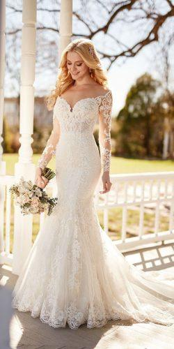 b2b1400b6870 mermaid wedding dresses off the shoulder sleeves lace sweetheart martina  liana