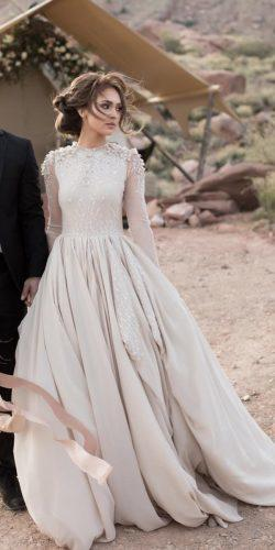 modest wedding dresses ball gown with long sleeves cathy telle