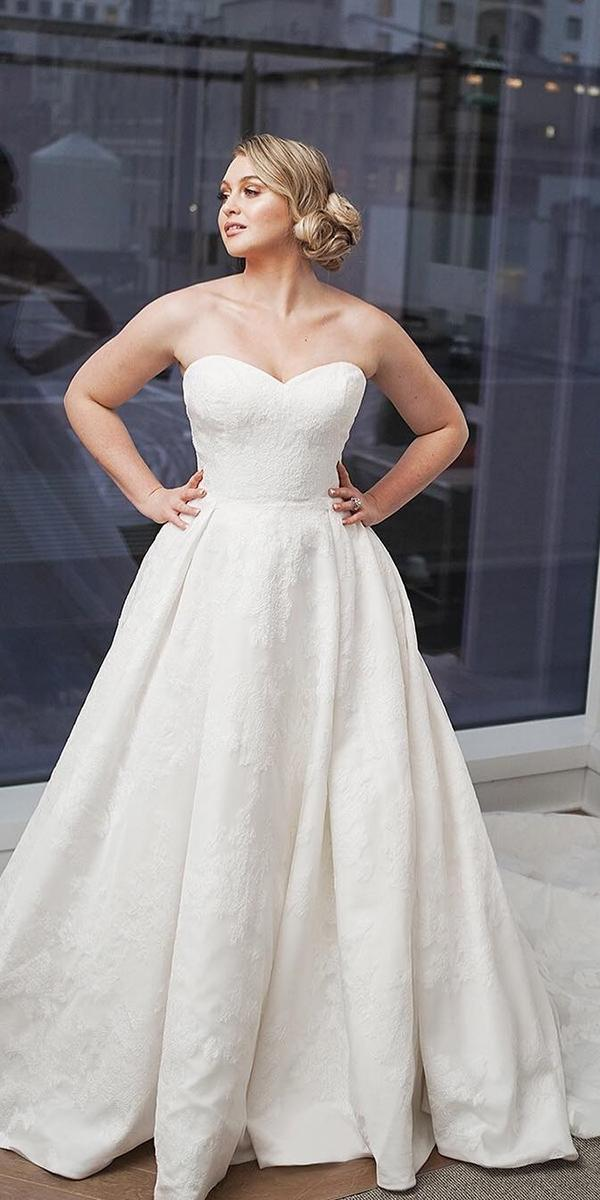 plus size wedding dresses a line sweetheart strapless with train justin alexander