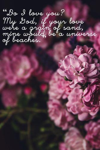 Romantic flower quotes