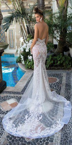 sheath lace fit and flare low back sleeveless berta wedding dresses 2019