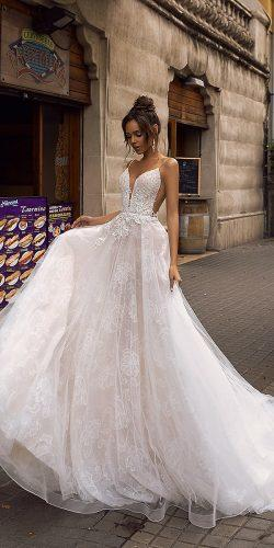 tina valerdi 2019 wedding dresses natural waist tulle short sleeves ball gown open back Whitney