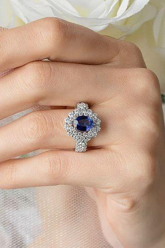 top engagement ring ideas sapphire gold engagement rings oval cut halo floral