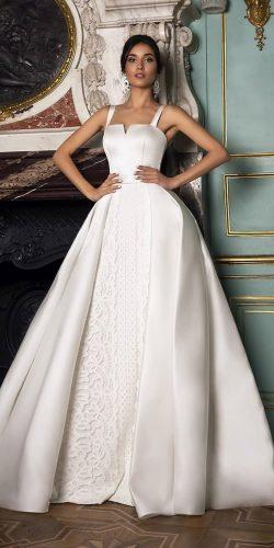 wedding dresses 2019 simple with overskirt oksana mukha