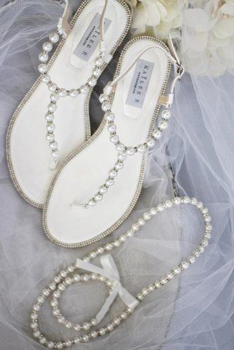 white wedding shoes sandals with pearls comfortable ashley fischer photography