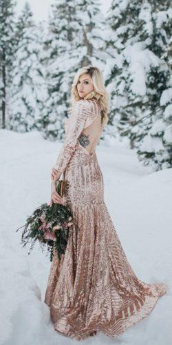 winter wedding dresses open back sequins gold sarah haimes