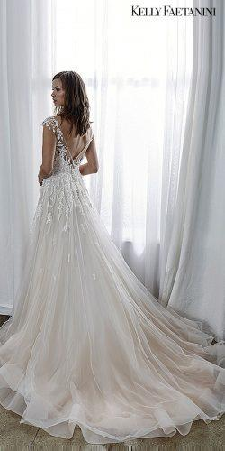kelly faetanini 2019 wedding dresses a-line bridal gowns blush dresses backless short sleev Audrey