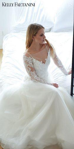 kelly faetanini 2019 wedding dresses a line white wedding gown long sleev long dress nicolette