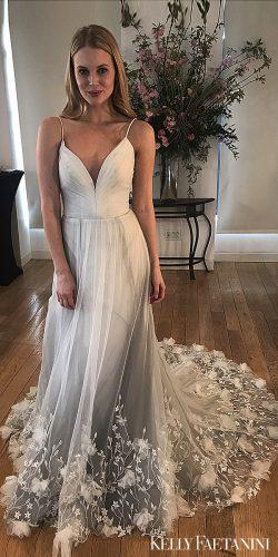 kelly faetanini 2019 wedding dresses lace balgown dress grey wedding dress Penelope