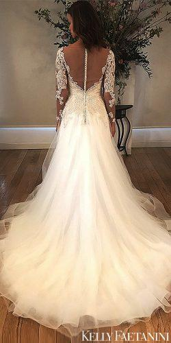kelly faetanini 2019 wedding long lace sleev a-line dresses vivianne