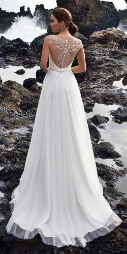 tattoo effect wedding dresses a line illusion floral back nora naviano
