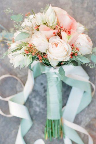tiffany blue wedding decorations blush flowers bouquet with ribbons colin cowie weddings