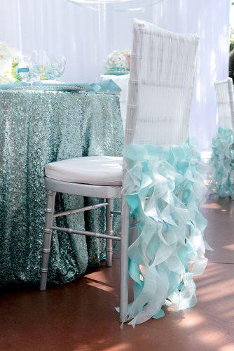 tiffany blue wedding decorations elegant ruffles on chair and glotter tablecloth white lilac