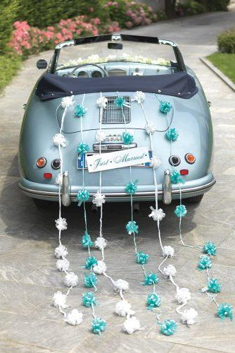tiffany blue wedding decorations for car with ribbons and bows brizzolariribbons via facebook