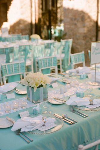 tiffany blue wedding decorations for wedding reception with tulips in the box christine johnson photography