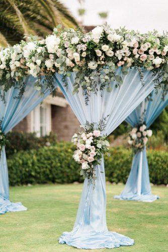 tiffany blue wedding decorations light cloth bridal altar with white flowers the_grovers via instagram