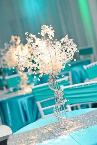 tiffany blue wedding decorations lighting crystal centerpiece 84 west studios
