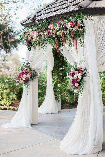 wedding ceremony decorations gazebo wedding white cloth and flowers littlehilldesigns