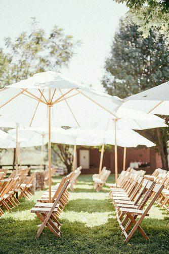 wedding ceremony decorations summer wedding aisle sun umbrellas hayes photo house
