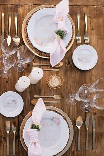 wedding table settings outdoor wedding table setting