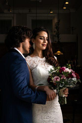 arabic wedding groom bride photography with bouquet madi photograph