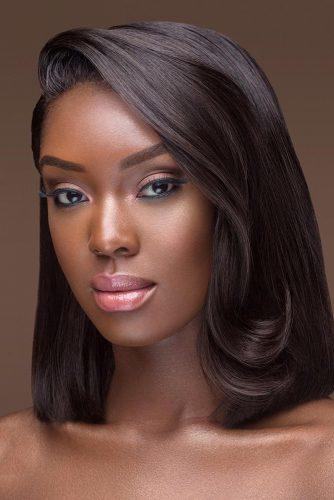 black bride makeup bronze skin black eyeliner pink lips joyadenuga