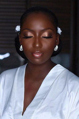 black bride makeup classical gentle bridal makeup with peach eyeshadows and arrows iamdodos