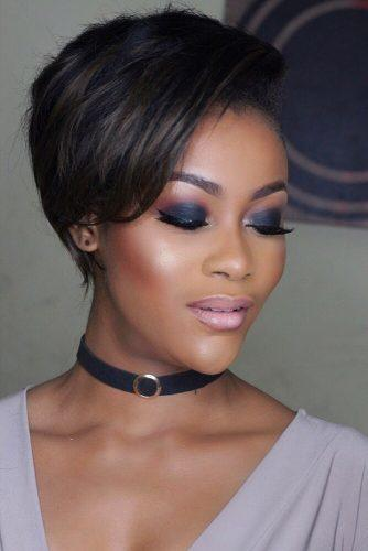 black bride makeup dark smoky eyes and pink lips iamdodos