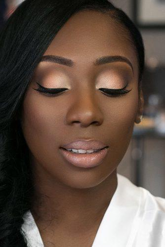 black bride makeup peach tones matte natural with arrows joyadenuga
